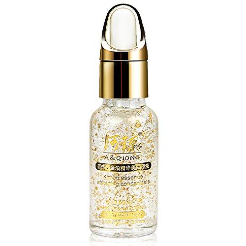 Moresave Colágeno 24k Esencia de Oro Líquido Ácido Hialurónico Hidratante Cuidado Facial Crema Antiarrugas Anti Envejecimiento 20ML