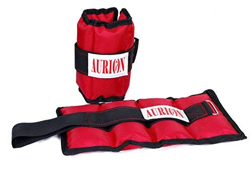 AURION Wrist/Ankle Weights (2 kg x 2 kg) Home Gym Weight Bands