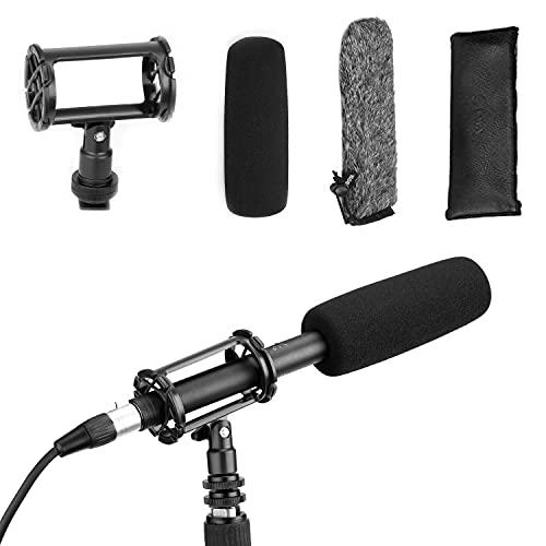 BOYA Microphone à condensateur XLR BY-BM6060 avec alimentation fantôme 24 V 48 V pour appareil photo, intervieview, programme TV