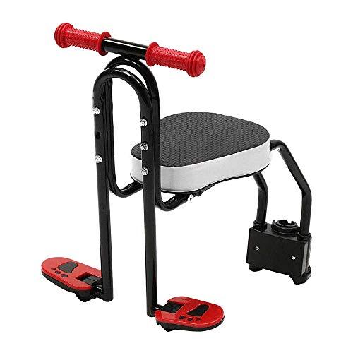 Puselo Asiento de bicicleta infantil para niño de bicicleta delantera de montaje negro para niño ajustable bicicleta de montaña delantera silla de niño