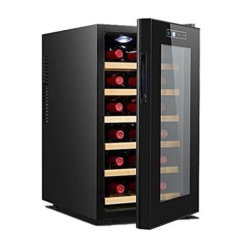 Hmvlw Vinoteca refrigerada Pequeño gabinete de vino electrónico Hogar refrigerador Oficina Bar Refrigerador Hotel Mostrar bebida Vino Gabinete Familia Cocina Restaurante Cabinete de vino refrigerado