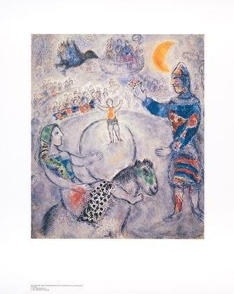 Marc Chagall Poster Kunstdruck Grosser Grauer Zirkus