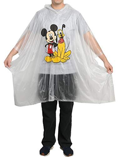 Disney Mickey Mouse & Pluto Rain Poncho Hoodie Print Unisex (Adult)