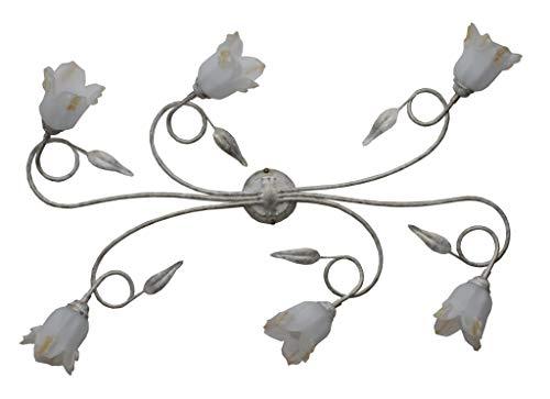Made in italy plafonnier lampe à suspension en fer forgé éclairage lustres et pour intérieur de salon Salon Chambre Lit produit en Italie par Valastro Lighting valfb34517 PL6 Bo