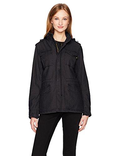 ALPHA INDUSTRIES Damen M-65 Defender W Field Coat Jacke, schwarz, X-Groß