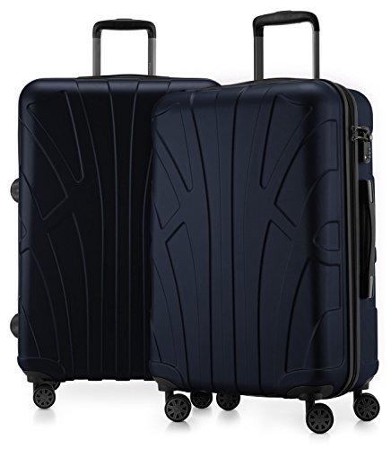 Suitline - 2er Koffer-Set Trolley-Set Rollkoffer Hartschalen-Koffer Reisekoffer, TSA, 66 cm, 100{2dfc9dd003cc7c8a8fac63985ef79119287abb543b8bd493ebe98db00385a940} ABS, Matt