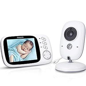Vigilabebés Nocturna Videovigilancia Bebé Inalámbrico con Pantalla LCD 3.2