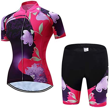 Women s Cycling Jersey Set Summer Short Sleeve Road Bike Suits Quick Dry product image