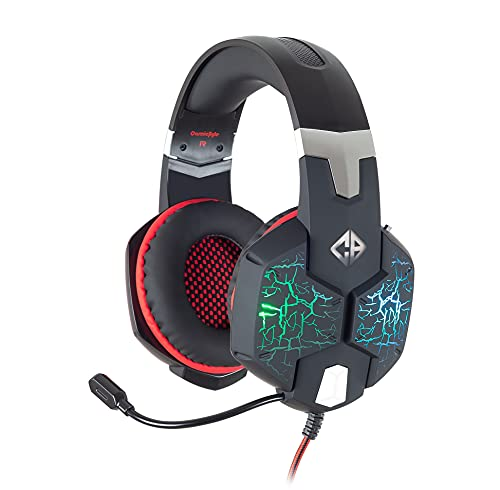 Cosmic Byte G1500 7.1 Channel USB Headset for PC with RGB LED Lights and Vibration (Black/Red)