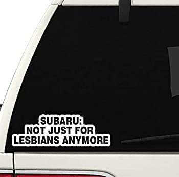 NOT JUST for Lesbians Decal CAR Truck Window Sticker JDM Funny Joke Subie Subaru