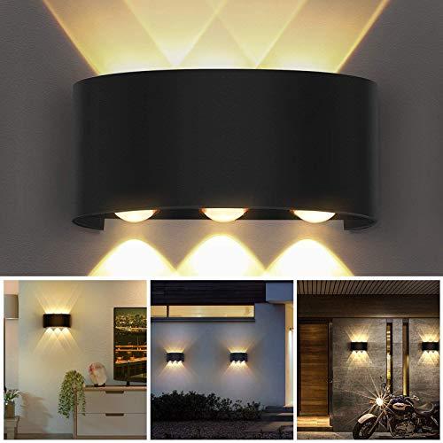 OUSFOT Applique da Parete Interno, 6W Perle di Lampada Cree Super Luminose LED,Lampada da Parete Esterno Moderno in Alluminio, Decorativa per Salotto Camera da Letto Corridoio(Bianco Caldo)