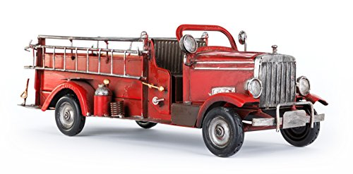 Solinga Deko Flaschenhalter Feuerwehrauto Geschenke für Feuerwehrmann und Feuerwehrfrau Geschenk Feuerwehr Hochzeit Geschenkidee für Feuerwehrgeschenke Weinflaschenhalter Metallflaschenhalter