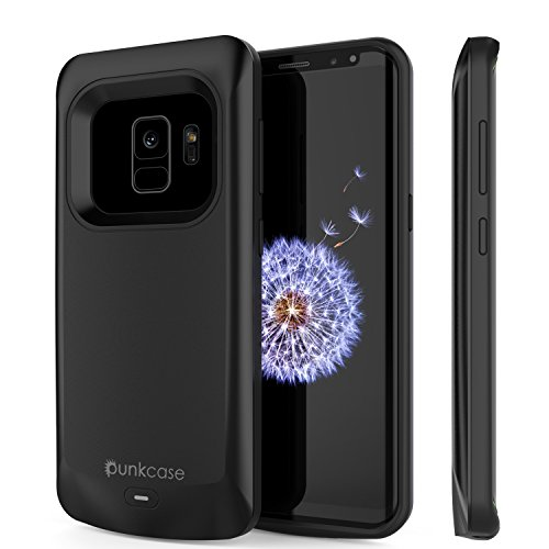 Galaxy S9 Battery Case, PunkJuice 4700mAH Fast Charging Power Bank W/Screen Protector | Integrated USB Port | IntelSwitch | Slim, Secure and Reliable | Suitable for Samsung Galaxy S9 [Black]