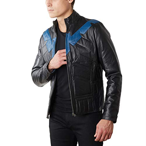 Men's Nightwing Leather Jacket (XX-Large)