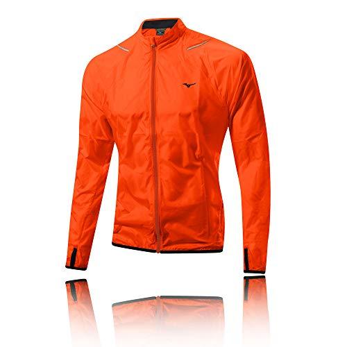 Mizuno Herren Regenjacke Impermalite Jacke XL orange