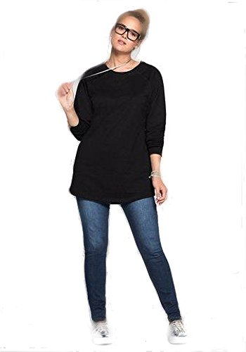 Casual by Sheego -  Maglia a manica lunga - Donna Nero 42