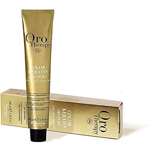 FANOLA Oro Puro Therapy Color Keratin Haarfarbe, 100 ml, 11.7 Super Blond Platin Irisierend