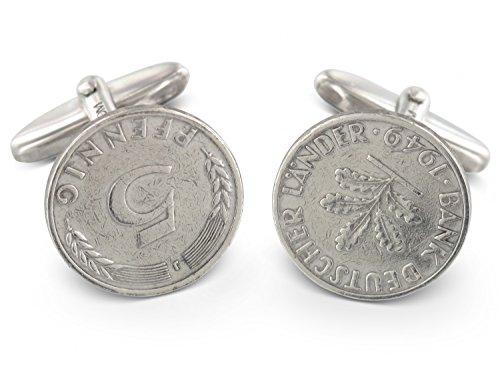 Grom Manschettenknöpfe 5 Pfennig 1949 - Bank Deutscher Länder 'J'