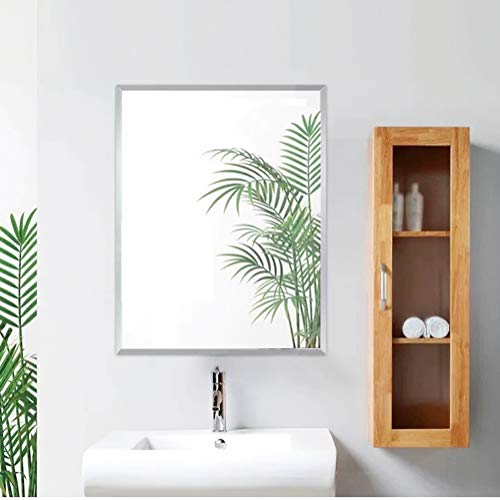 FANYUSHOW Beveled Frameless Explosion-Proof Wall Mirror, Suitable for Bathroom, Bedroom Bathroom Living Room Wall Decor,30