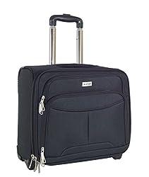 Pilot case size cabin Alistair Airo - Ultra Light - canvas nylon - 2 wheels black