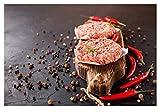 Estilo escandinavo impreso bistec condimento de frutas cartel arte de la pared comida deliciosa lienzo pintura cuadro modular para la cocina decoración del hogar 40 * 60 sin marco