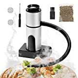 2021 New Smoker Gun, Small Wood Smoke Gun Infuser Portable Kitchen Food Smoking Gun for Bar Cooking Meat BBQ Drinks Cheese Cocktails Sous Vide Steak Popcorn- Large