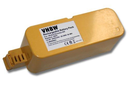 vhbw Akku kompatibel mit Vileda M-488a Staubsauger Ersatz für APS 4905 Staubsauger Home Cleaner Heimroboter (2000mAh, 14,4V, NiMH)