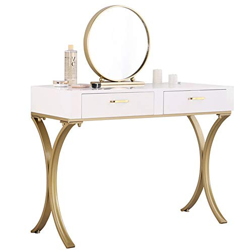 Learn More About Ybriefbag-Home Vanities Vanity Table Set Mirror Dressing Table and Stool Set with D...
