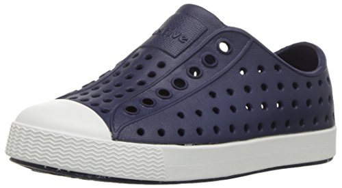 Native Shoes Unisex-Kinder Jefferson Junior Wasserschuh, Regatta Blue/Shell Weiß, 33 EU