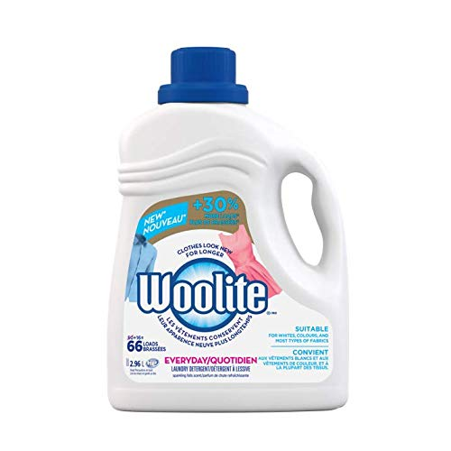 Woolite Everyday, Laundry Detergent, Mega Value Pack, 2.96 L, With Colour Renew - Clothes Look New Longer 1 Count, 66...