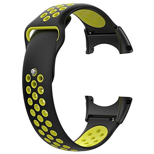 rebirthesame - Correa de Repuesto de Silicona para Smart Watch W/Tools, Color Negro, 2, 1