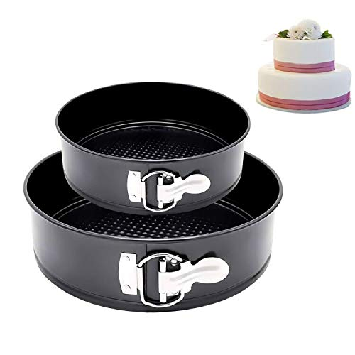Nonstick Springform Pan Tin with Removable Bottom  Leakproof Bakeware Mold Cheesecake Pan Round Detachable Baking Pan Set 4quot 7quot For Smash CakeCheesecake Pizzas and Quiches Enthusiast Baker