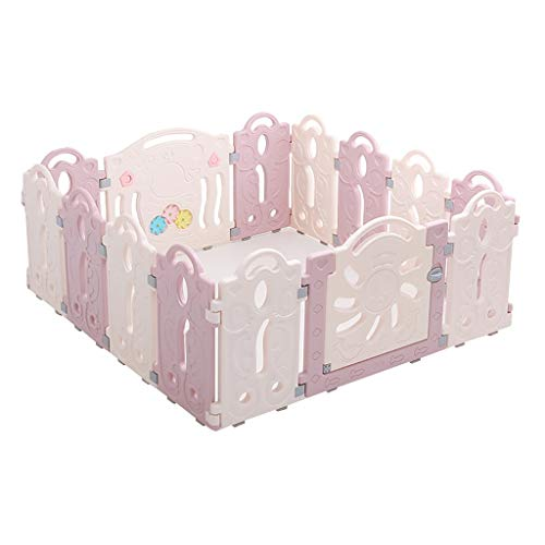 Lowest Price! Qivor Playpen Baby Playpen with Activity Panels, Plastic Infant Fence Foldable Compact...