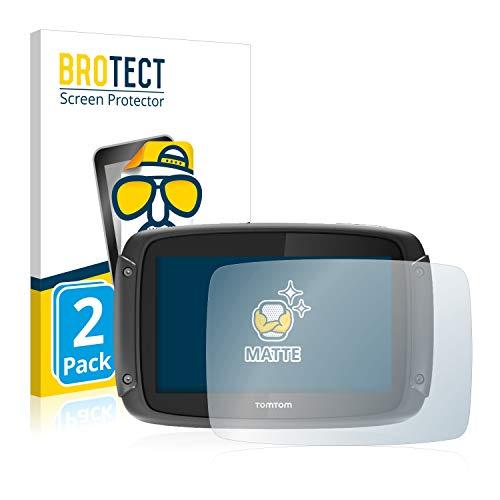 BROTECT 2X Entspiegelungs-Schutzfolie kompatibel mit Tomtom Rider 450 Bildschirmschutz-Folie Matt, Anti-Reflex, Anti-Fingerprint