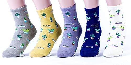 Mengmeng Damen neue anlage kaktus blumentopf muster/mädchen socken bequeme reizende nette socken baumwollbeiläufiges socken Size Multicolor5