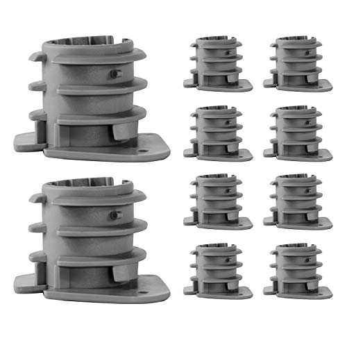 Highcraft PXINS001-10 PEX 3/4 in. Insulator Cap, Isolates Pipe from Wood Framing, Hard Plastic (10 Pack), 1 in, Gray