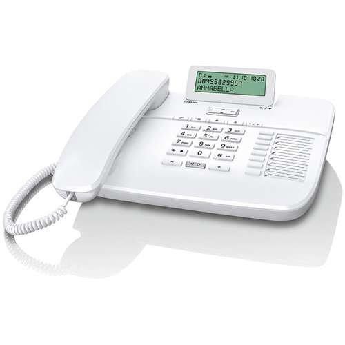 Gigaset DA710 - schnurgebundenes Telefon - Haustelefon mit flexibler Freisprechfunktion und Direktruf, weiß
