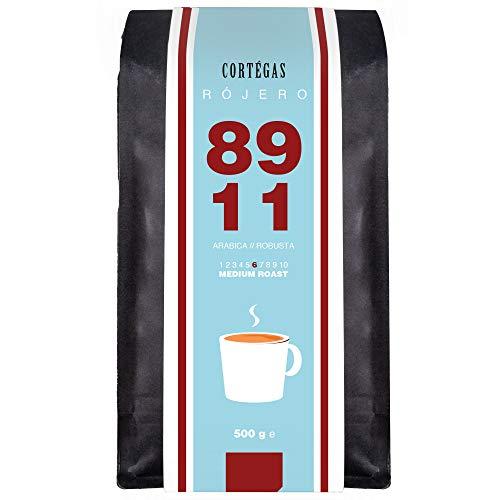 Cortegas Rojero - 500g ganze Bohnen - 89% Arabica und 11% Robusta PB - Direct Trade - Premium Kaffeebohnen aus dem Hochland von Guatemala - Schonend geröstet mit wenig Säure - ideal für French Press