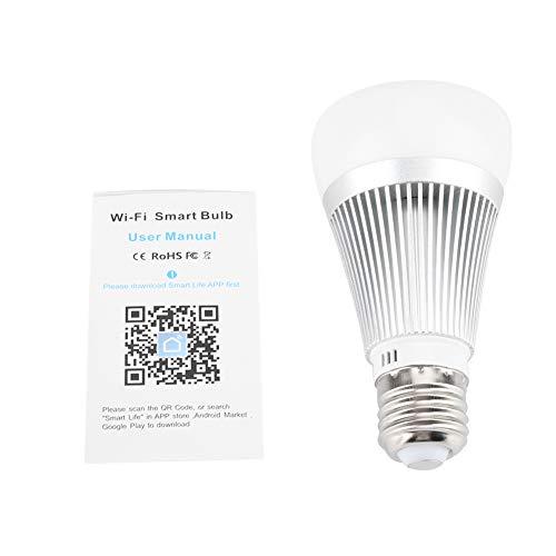 Ellenny Bombilla para Alexa/Google Home E27 7W WiFi Control Remoto RGB + W + C Smart LED