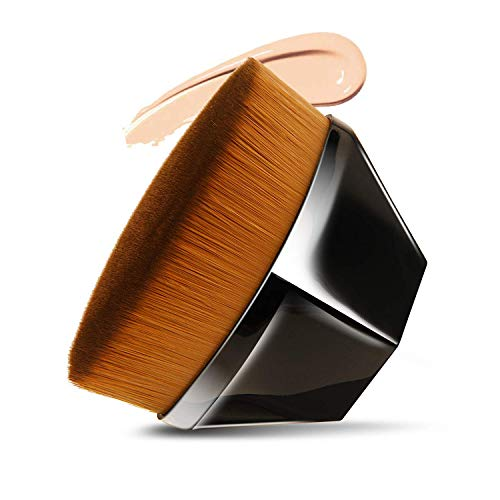 Brocha de maquillaje para base – Kabuki para la cara, cepillo cosmético, cobertura completa para la cara y el cuerpo con funda protectora