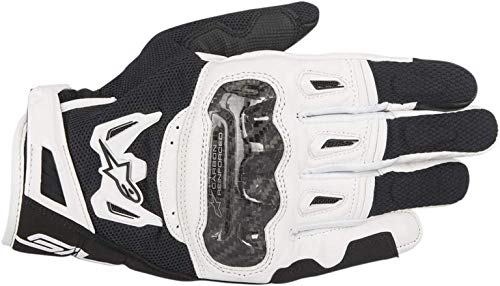 Gants Moto Alpinestars SMX-2 Air Carbon V2 Glove Black White, Noir/Blanc, L