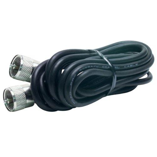 RG-58A/U Coaxial Cable w/Molded PL-259 Connectors (18 feet)