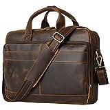 Jack&Chris Leather Briefcase for Men,Business...