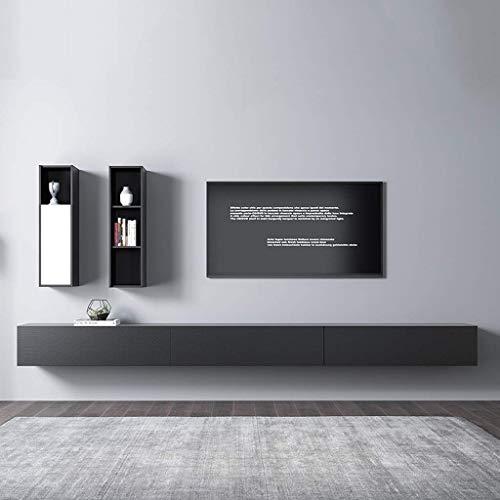 ZXYY wandmontage TV kabinet WiFi Router Set top Box Kleine elektronische items Opslag plank Slaapkamer Woonkamer Keuken Wandplank Zwevende plank Multimedia Console (Maat: 200cm) 360cm