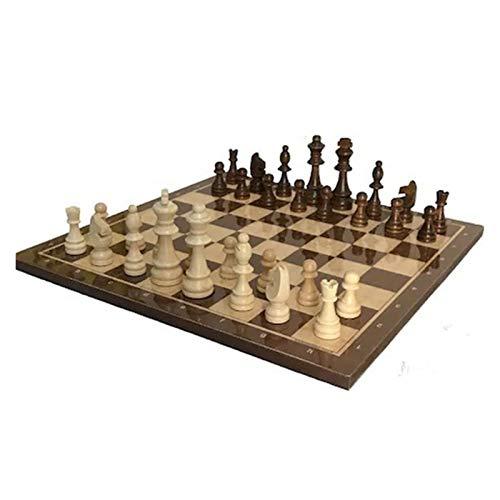 AILIUQIAN Juego de ajedrez Figura de Madera Damificadores Ajedrez Medieval con la Figura del Juego de la Mesa de ajedrez Establece el Tablero de ajedrez Szachy