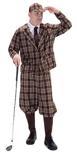 Herren 6 Teile 1930s Jahre Golfer Pub Golf Sport Kostüm Kleid Outfit
