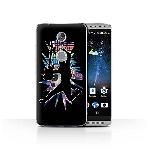 Handy Hülle kompatibel mit ZTE Axon 7/Axon 2 Rock Star Pose Sprung Schwarz Transparent Klar Ultra Dünne Handyhülle Hülle Cover