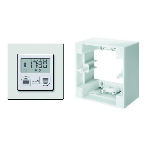 Schellenberg Zeitschaltuhr Standard zur Rollladensteuerung, 25571 + Schellenberg Aufputzrahmen für Zeitschaltuhren STANDARD und PLUS - weiß