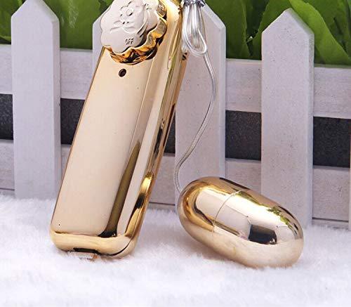 Plating jum~p e~ggs Women\'s Vib~rat~ing Tiaodan Massage Flirting Female Mas~tur~bation Adult Toys O3-Gold-