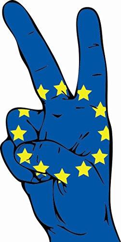U24 Aufkleber Peace Finger Europa Autoaufkleber Sticker